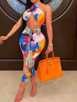 Ericdress Vest Sexy Print Pullover Bodycon Women's Two Piece Sets Dress Sets