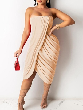 Ericdress Sleeveless Mid-Calf Split High Waist Sexy Dress