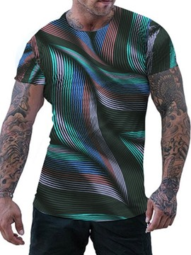 Ericdress Round Neck Print Pullover Men's Slim T-shirt