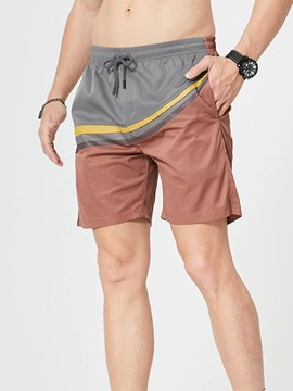 Ericdress Straight Pocket Casual Lace-Up Men's Shorts