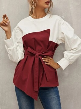 Ericdress Lantern Sleeve Plain Long Sleeve Standard Women's Blouse
