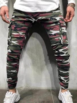 Ericdress Pencil Pants Camouflage Pocket Zipper Men's Casual Jeans