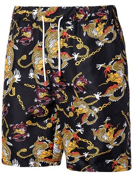 Ericdress Straight Print Men's Beach Shorts