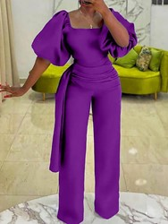 Ericdress coupon: Ericdress Full Length Office Lady Plain Straight Womens Slim Jumpsuit