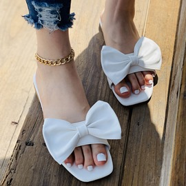 Ericdress Toe Ring Flat With Bow Western Women's Slippers