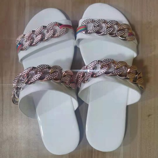 Ericdress Sequin Flat With Toe Ring Women's Casual Slippers