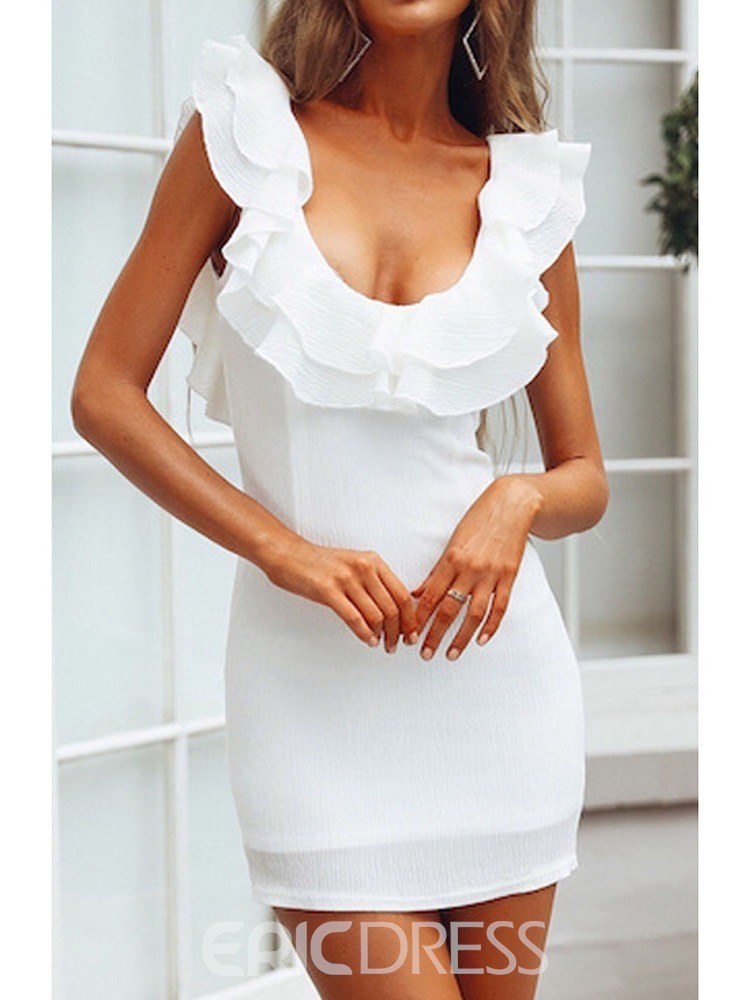 Ericdress Above Knee Cap Sleeve Fashion Pullover Bodycon Dress