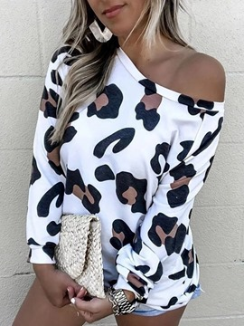Ericdress Leopard Standard Long Sleeve Loose Women's T-Shirt