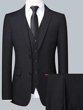 Ericdress Single-Breasted Plain Men's Dress Suit