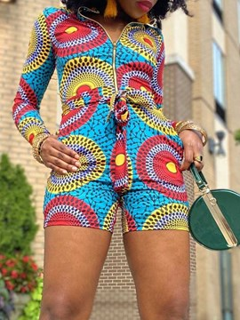 Ericdress Floral Shorts Print Skinny Straight Women's Rompers
