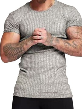 Ericdress Round Neck Casual Slim Men's T-shirt