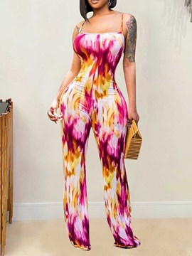 Ericdress Backless Floral Office Lady Slim Straight Women's Jumpsuit