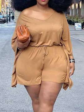 Ericdress T-Shirt Plain Casual Pullover Straight Women's Two Piece Sets Short Sets