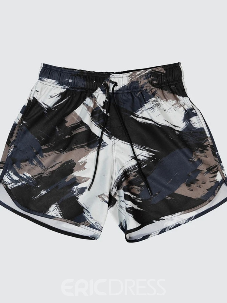 Ericdress Slim Lace-Up Camouflage Casual Lace-Up Men's Shorts