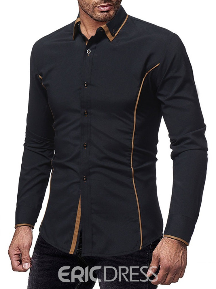Ericdress Casual Button Lapel Single-Breasted Men's Shirt