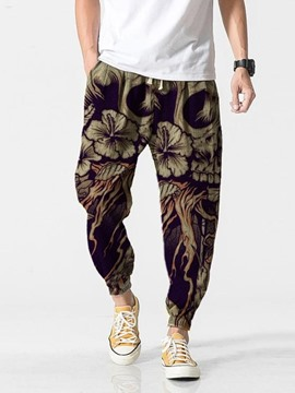 Ericdress Print Lace-Up Men's Casual Pencil Pants