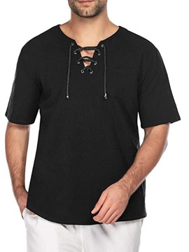 Ericdress Casual Plain Slim Half Sleeve Men's T-shirt