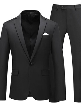 Ericdress Plain Blazer One Button Men's Dress Suit