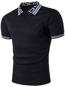 Ericdress Casual Print Men's Polo Shirt