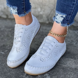 Ericdress Round Toe Low-Cut Upper Lace-Up Plain Women's Sneakers