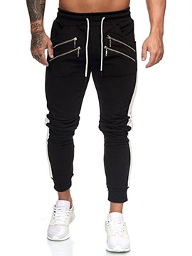 Ericdress Lace-Up Pencil Pants Lace-Up Men's Casual Pants