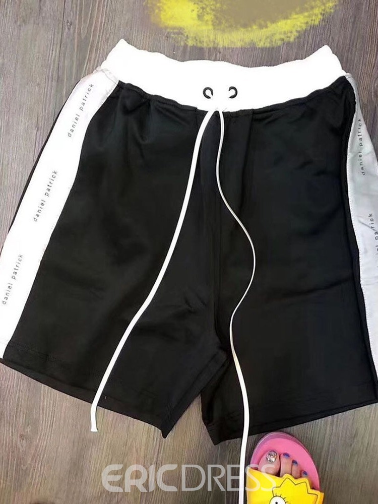 Ericdress Color Block Straight Lace-Up Casual Lace-Up Men's Shorts