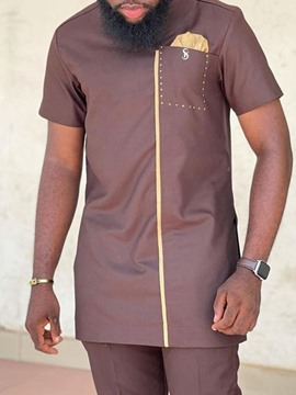 chemise slim casual homme ericdress pocket