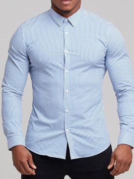 Ericdress Lapel Casual Button Single-Breasted Men's Shirt