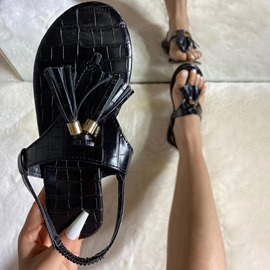 Ericdress Slip-On Thong Flat With Sequin Women's Sandals
