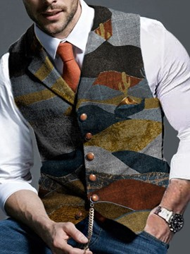 Ericdress Button Single-Breasted Men's Formal Waistcoat