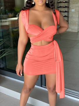 Ericdress Fashion Backless Vest Bodycon Two Piece Sets Skirt Sets