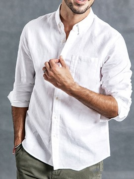 Ericdress Button Casual Lapel Slim Single-Breasted Men's Shirt