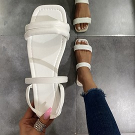 Ericdress Flat With Slip-On Open Toe Women's Casual Sandals