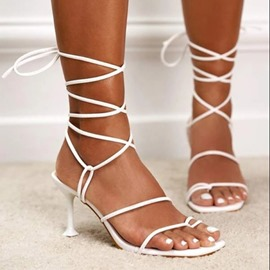 Ericdress Thong Lace-Up Stiletto Heel Professional Women's Sandals
