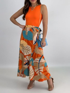Ericdress Fashion Print Skirt A-Line Pullover Two Piece Sets Dress Sets