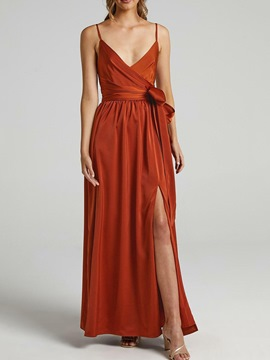 Ericdress Lace-Up Sleeveless Floor-Length A-Line Pullover Maxi Dress