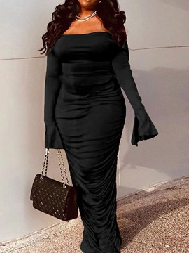 Ericdress Long Sleeve Backless Off Shoulder Bodycon Fashion Dress