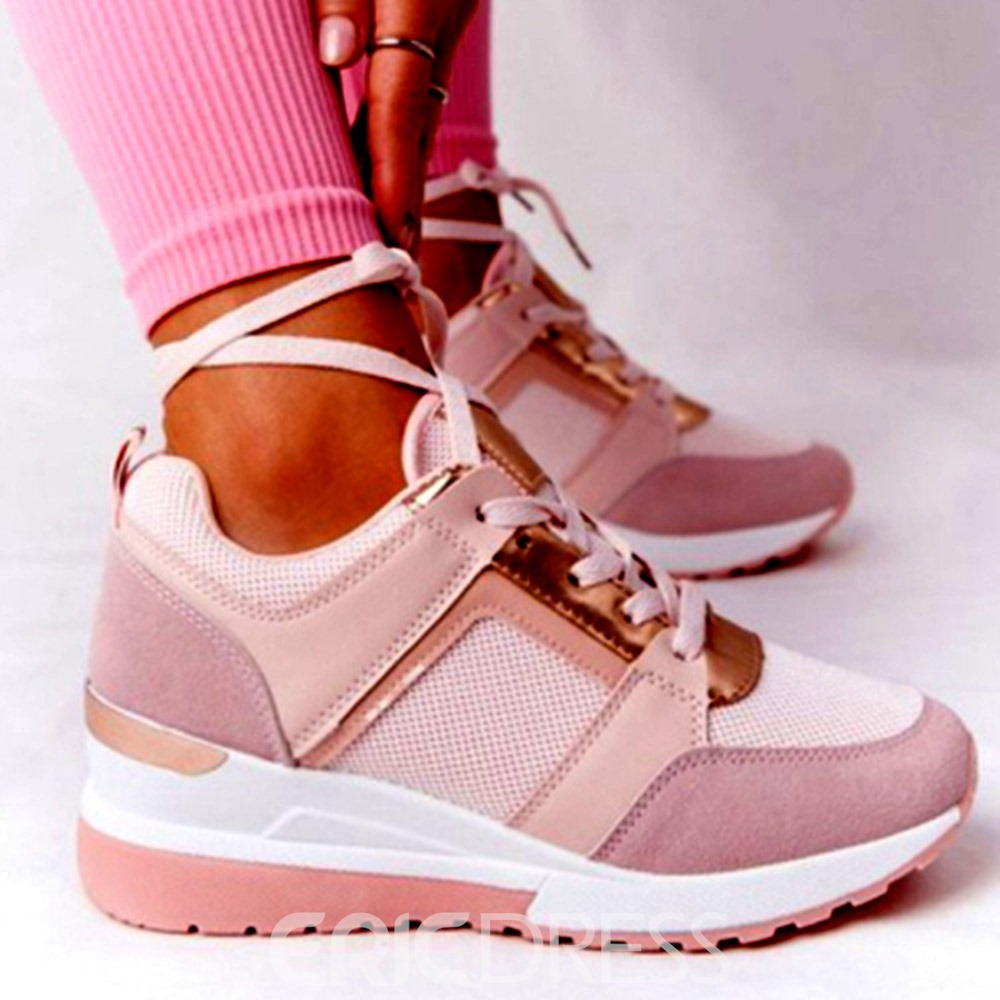 Ericdress Round Toe Lace-Up Cross Strap Western Women's Sneakers