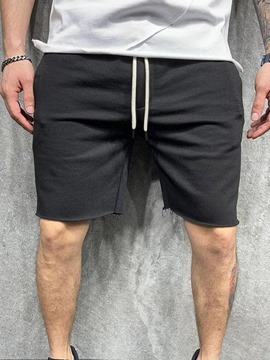 Ericdress Straight Pocket Lace-Up Micro-Elastic Men's Casual Shorts