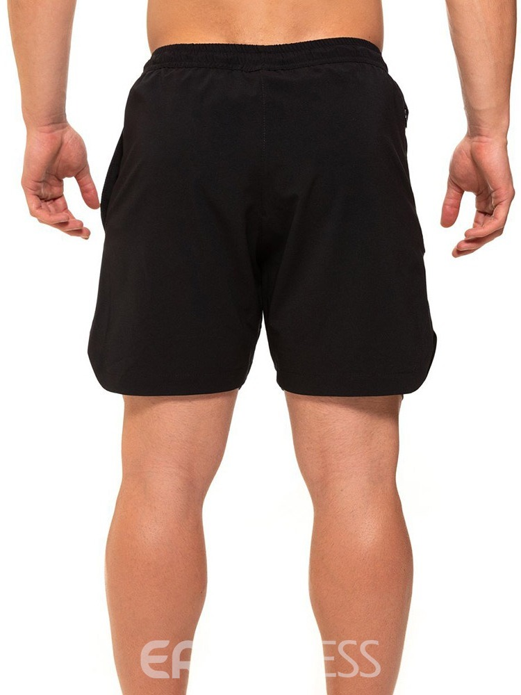 Ericdress Lace-Up Slim Men's Casual Shorts
