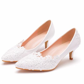 Ericdress Pointed Toe Stiletto Heel Slip-On Professional Thin Shoes