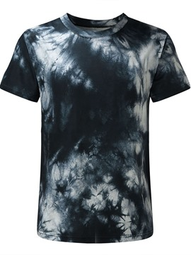 Ericdress Print Casual Round Neck Pullover Short Sleeve Micro-Elastic Men's T-shirt