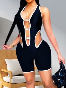 Ericdress Sexy Shorts Backless Slim Jumpsuit Women's Romper