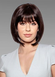 Ericdress Short Bob Hairstyles Womens Cute Straight Synthetic Hair With Bangs Capless Wigs 10Inch