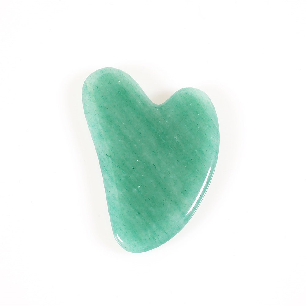 Gua Sha Scraping Massage Board Tool Natural Jade Stone Guasha Board for Face Body Skin Caring Spa Therapy Trigger Point Treatment Soft Tissue Mobilization Tool