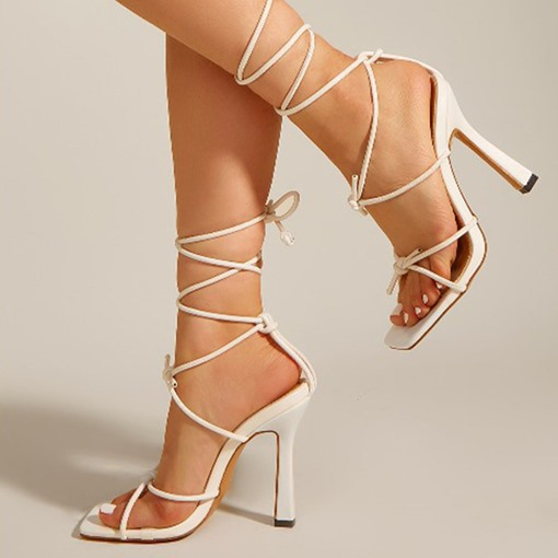 Ericdress Stiletto Heel Lace-Up Open Toe Lace-Up Women's ProfessionalSandals