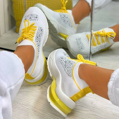Ericdress Low-Cut Upper Round Toe Lace-Up Outdoor Women's Sneakers