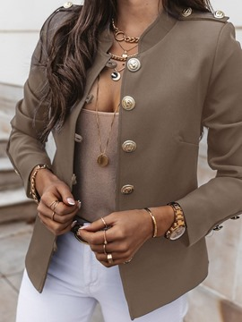 Ericdress Stand Collar Single-Breasted Nine Points Sleeve Office Lady Women's Blazer