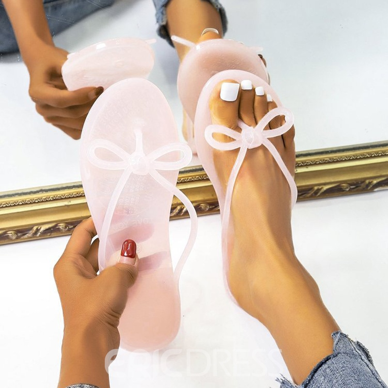 Ericdress Flat With Slip-On Thong Women's Rubber Slippers