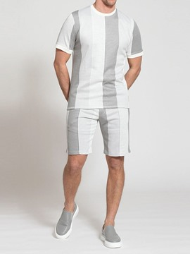 Ericdress Casual T-Shirt Color Block Men's Outfit